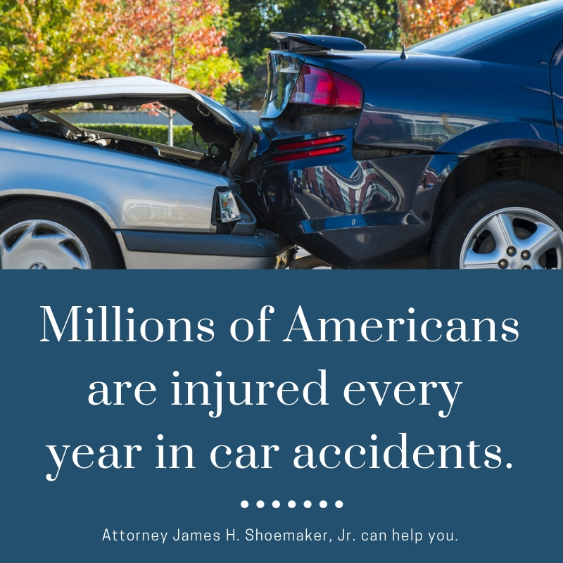 Car accident injury statistics with James H. Shoemaker, Jr. Attorney at Law