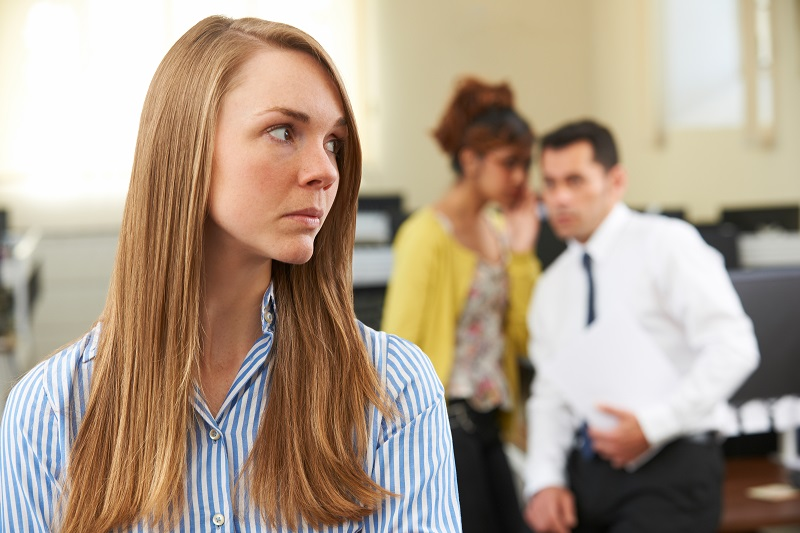 Woman experiencing a hostile work environment in Virginia Beach
